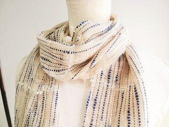 手織りストール(しずく)の画像