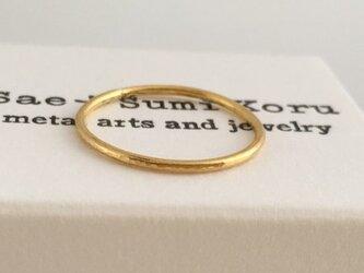 K24 Pure Gold Ring◇純金の指輪/リング 3(1mm幅)の画像