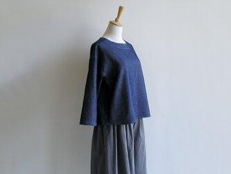 播州織コットン*ワッフル織のシンプルなプルオーバーの画像