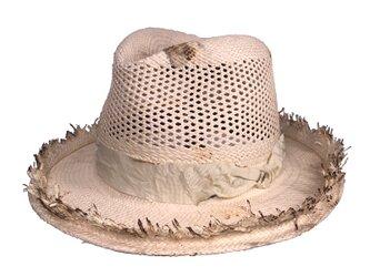 Panama ivory fedora hatの画像