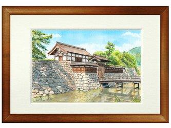 世界で1枚の絵 水彩画原画「松代城」の画像