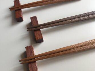 受注制作 お箸、箸置きセット 子供用の画像