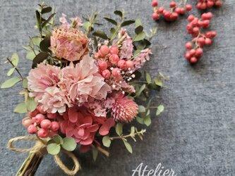 ''八重桜の大人ピンク春色スワッグ''の画像