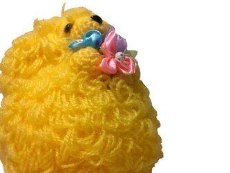 恋するわんちゃん♪結婚祝い!!犬の編みぐるみ人形♡トイプーL黄の画像