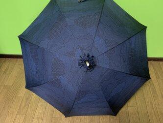 特別価格 大島紬の日傘 曙の画像