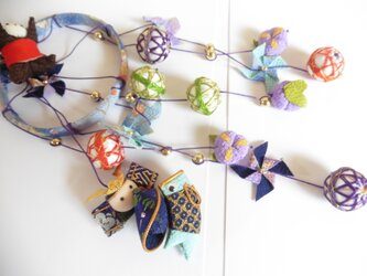 5月人形 吊るし人形 縮緬 縁起物の画像
