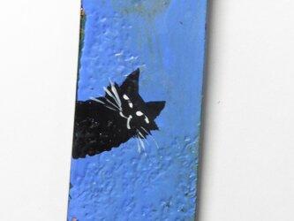 革のストラップ 猫⑤の画像