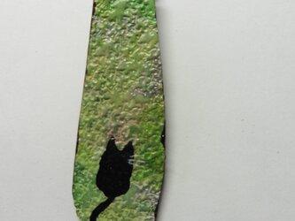 革のストラップ 猫⑩の画像