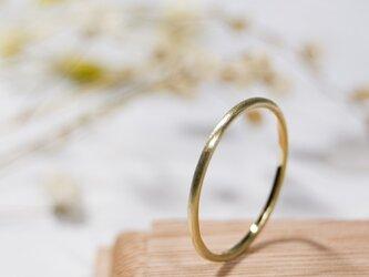 つや消し ブラスプレーンリング 1.2mm幅 マット 真鍮 BRASS RING 指輪 シンプル アクセサリー 226の画像
