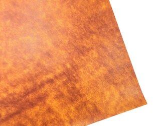 本革A4サイズ アンチックレザー 【オレンジ】裏白の画像