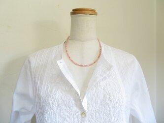春霞色の珊瑚のネックレスの画像