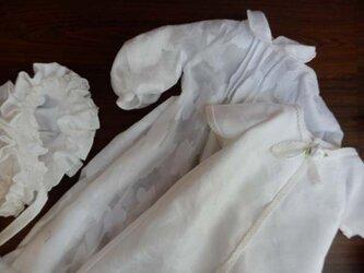 ドール背丈60cm前後用 真っ白なベビードレス(着重ね)の画像