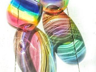 虹色のぐい呑み パープルリップ✱ご注文前にメッセージをお願いしますの画像