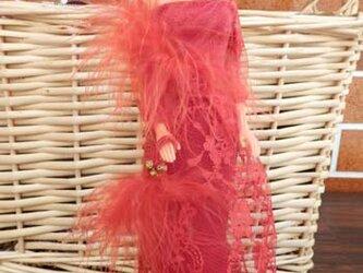 ★元気だしsale バービーの赤いレースのドレスの画像