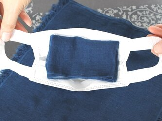 ◆100%自然素材 天然灰汁発酵建て 本藍染◆ 多目的ガーゼ(カット版)20枚セットの画像