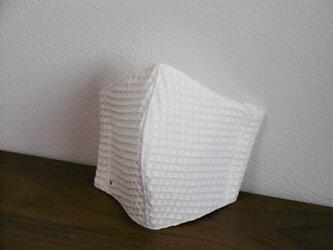 LLワッフル地ホワイト 立体型おやすみマスク の画像