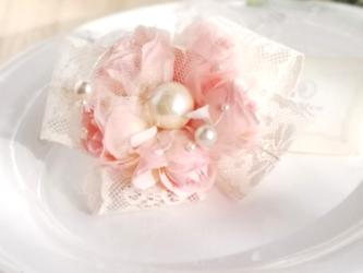 薔薇のつぼみのコサージュ 2Way☆*: ベビーピンクrosebud corsage 2way ☆ *: baby pinkの画像