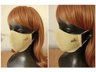 ハンドメイド 大人用 脇すっきり綿麻マスクの画像
