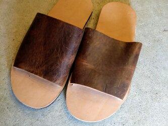 HC sandal ダークブラウンの画像