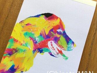 カラフル!ゴールデンレトリバー(犬)のメモ帳の画像