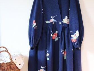 紋明雲★絹100% 羽織りにもなる2way ロングワンピース ★一枚限定の画像