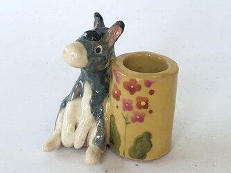 陶のスタンド「ろば」の画像