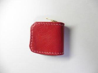 赤 レッド★革 小銭入れ 指輪入れ 常備薬入れの画像