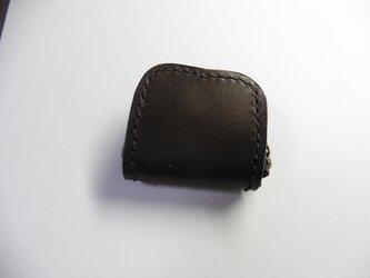 黒 ブラック栃木レザー×サドル ★革 小銭入れ 指輪入れ 常備薬入れの画像
