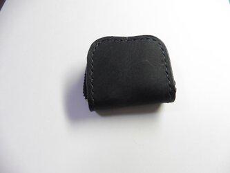 濃紺×サドルレザー 牛革 レザー★革 小銭入れ 指輪入れ 常備薬入れの画像