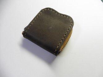 グレー 灰色 牛革 レザー★革 小銭入れ 指輪入れ 常備薬入れの画像
