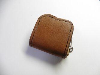 栃木レザー ブラウン 茶色×サドルレザー★牛革 小銭入れ 指輪入れ 常備薬入れの画像