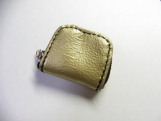 金 ゴールド★牛革 小銭入れ 指輪入れ 常備薬入れの画像