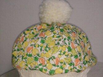 ぼんぼりが可愛い*ニットベレー帽・Mサイズの画像