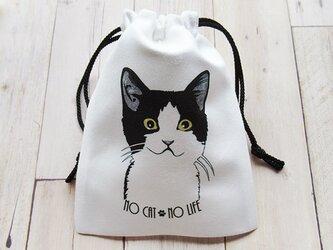 「NO CAT NO LIFE!」巾着の画像