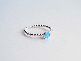 小さなオパールのリング ~Blueの画像