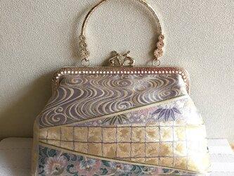 がまぐちバッグ・クリムト風 黄金時代・4 ・うさぎさん金具の画像