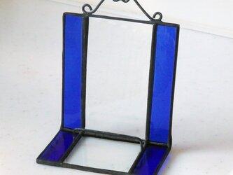 ステンドグラス ディスプレイスタンド (瑠璃紺色)の画像