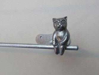 ネコのいるタオル掛け(ミニA)の画像