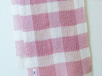 手織り・草木染め リネンストール の画像