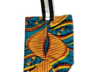 アフリカン花×ストライプ ミニバッグの画像