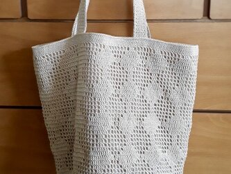 『pompom』Grid Bag(Tree/Beige)の画像