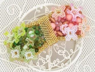 バレッタ suger-pop(ピンク×グリーン)の画像