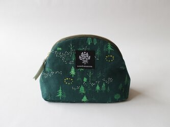 山型ポーチ・おもいでの森 / グリーンの画像