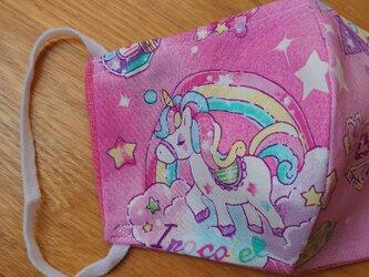 新シリーズ★ユニコーン ピンク系マスク2枚組★子供用 フィルタプレゼントの画像