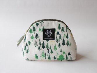 山型ポーチ・おもいでの森 / クリームの画像