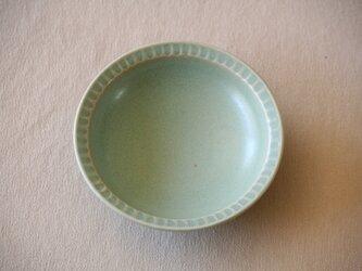 空色釉しのぎ小皿の画像
