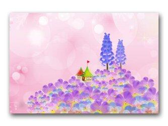 「パンジーの丘でムスカリが生まれたっ!」 ほっこり癒しのイラストポストカード2枚組 No.1028の画像