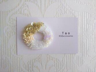 刺繍ブローチ Donuts Whiteの画像