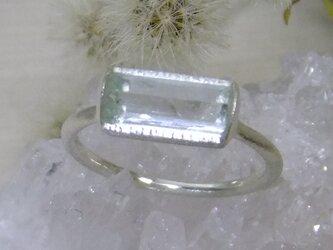 アクアマリン原石*925 ringの画像