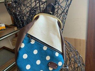 『受注製作』帆布&本革  がまぐちボディバッグ No.1501の画像